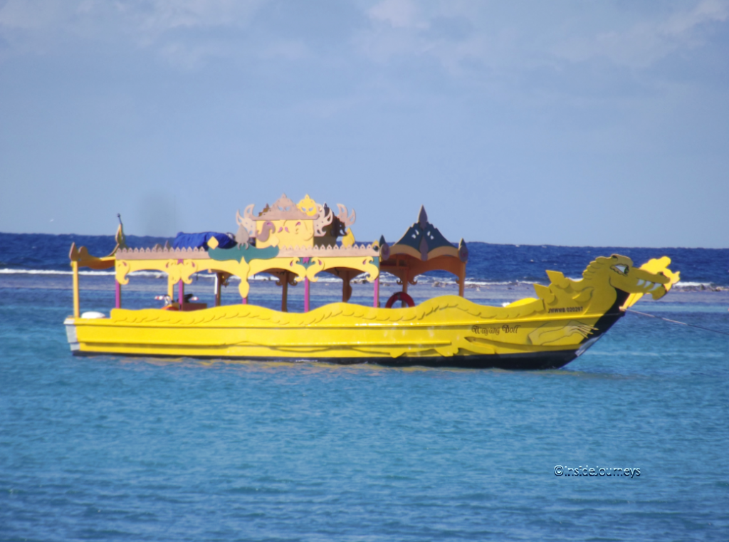 Dragon boat near Montego Bay