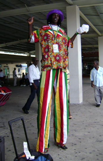Stilt walker, Montego Bay Airport