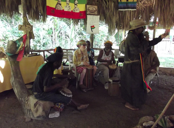 Drummers at the Rastafari Indigenous Village, St. James