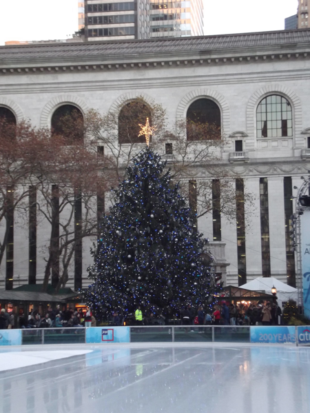 Blue Christmas Tree, Bryant Park
