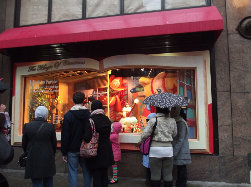 Christmas decorations at Macy's draws a crowd
