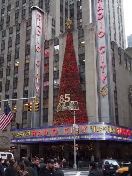 Radio City Music Hall tree