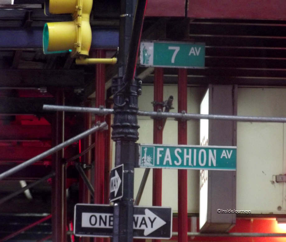 Fashion Avenue / 7th Ave street sign, Fashion Walk of Fame