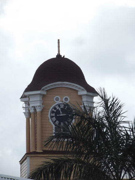 Lucea Clock Tower with distinctive looking helmet