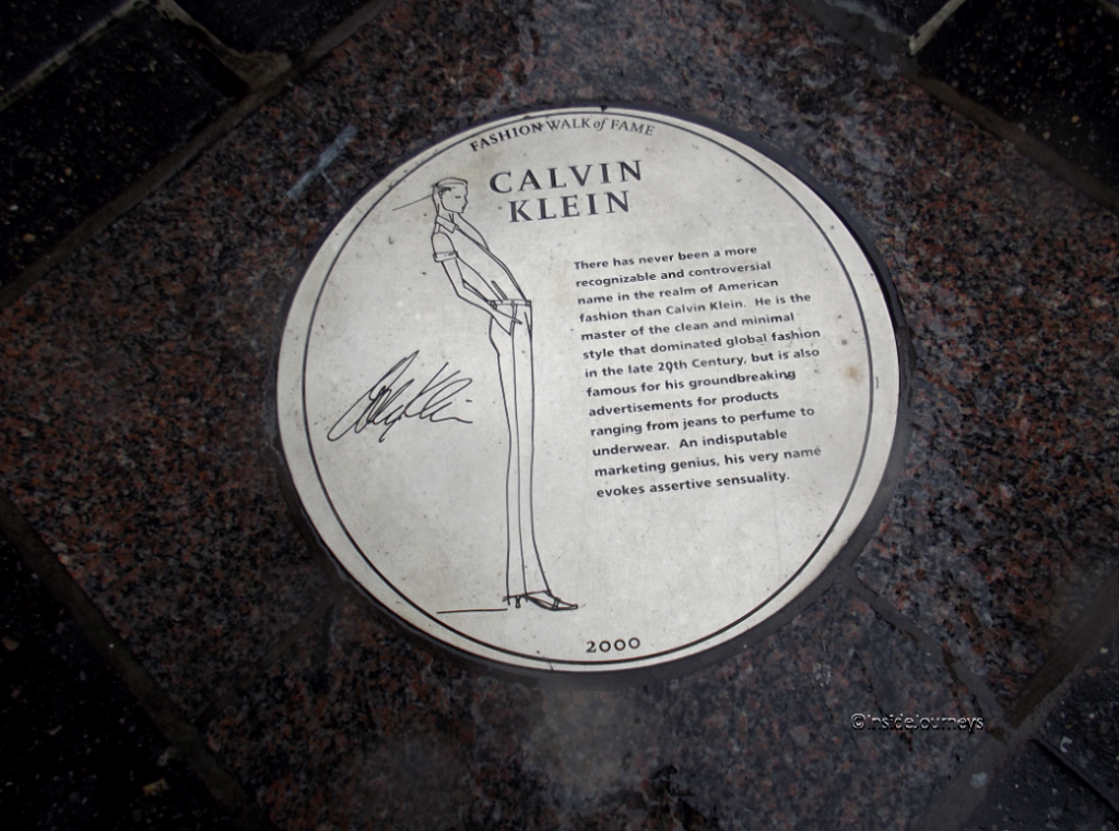 Fashion Walk of Fame - Calvin Klein