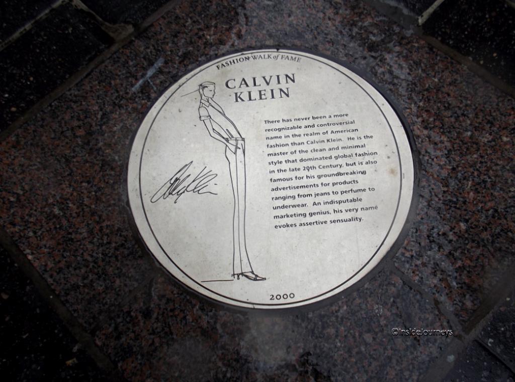 Fashion Walk of Fame - Calvin Klein