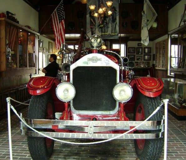 Antique fire truck at Cape May Fire station
