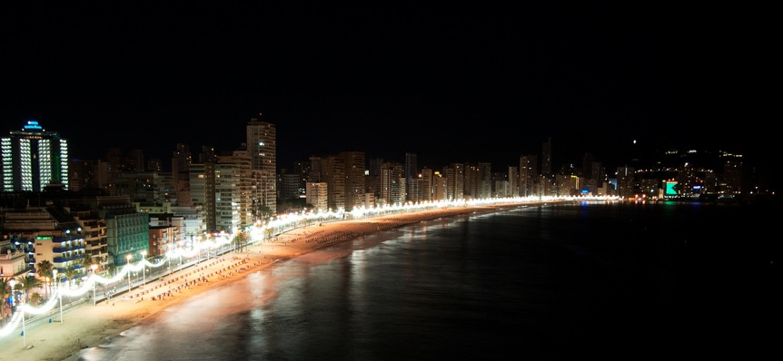 Spain - Benidorm by Night, photo John O'Nolan